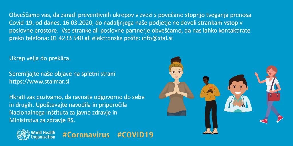 Preventivni ukrepi v zvezi s povečano stopnjo tveganja prenosa Covid-19
